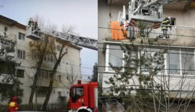Un copil de 3 ani şi-a închis bunica pe balcon și a fost nevoie de intervenția salvatorilor
