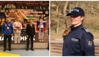 O polițistă din Moldova, pe locul II la Campionatul European de luptă corp la corp