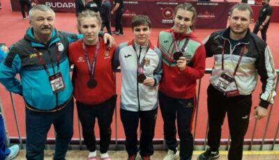 Luptătoarele din Moldova au câștigat 3 medalii de bronz la Budapesta