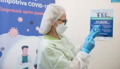 1.217 cadre medicale din țară au fost vaccinate, astăzi, împotriva Covid-19