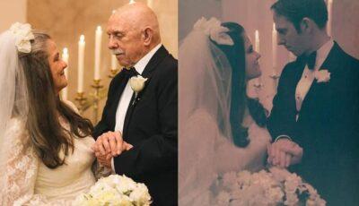 Incredibil de frumos și emoționant! Doi soți au sărbătorit 50 de ani de căsătorie și au recreat  ședința foto din ziua nunții lor