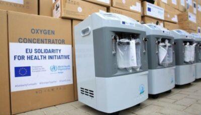 Aparate de ventilare, concentratoare de oxigen și alte echipamente, donate de Uniunea Europeană, OMS și Germania pentru spitalele din Moldova