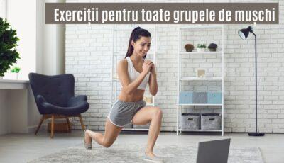 În doar 10 minute de antrenament lucrezi toți mușchii corpului. Vezi setul de exerciții!
