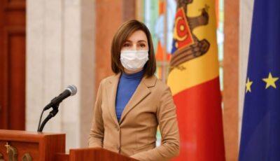 Maia Sandu: Republica Moldova va primi 100.620 de doze de vaccin Pfizer până la sfârșitul lunii iunie