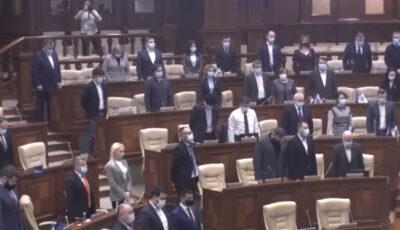 Un minut de reculegere, ținut în Parlament în memoria lui Nicolae Dabija