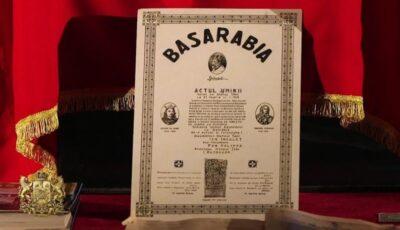 Astăzi, se împlinesc 103 ani de la Unirea Basarabiei cu România