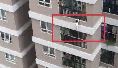 Un copil de 2 ani, căzut de la etajul 12, a fost salvat de un trecător