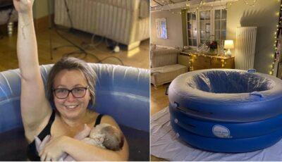O tânără a născut acasă după 36 de ore de travaliu şi a transmis totul live, pe Instagram