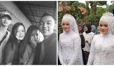 Doi frați gemeni s-au căsătorit cu doua surori gemene