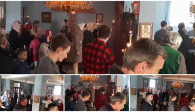 Zeci de enoriași fără măști, într-o biserică din Capitală. Preotul i-ar alunga pe cei care le poartă