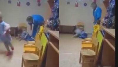Video revoltător. Copil internat în secția pediatrie, lovit de mai multe ori peste față