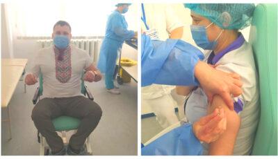 Medicii din Hâncești se vaccinează împotriva noului Coronavirus