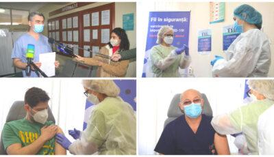 Institutul de Medicină Urgentă: Medicii din secția Terapie Intensivă se vaccinează împotriva Covid-19