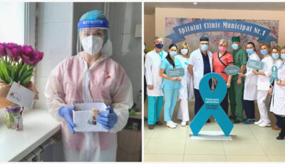 Un dar de ziua colegelor! De 8 martie, bărbații medici de la un spital din Chișinău, au ieșit la muncă voluntară, în afara orarului