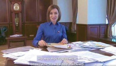 Maia Sandu, emoționată de sutele de mesaje și scrisori primite de la copii despre scriitorii și cărțile lor preferate