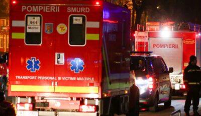 Incendiu la spital provocat de un pacient la psihiatrie. Trei medici au sărit de la etaj și au suferit fracturi la picioare
