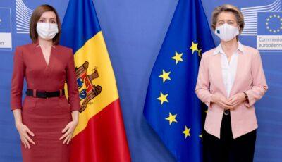 Președinta Comisiei Europene, Ursula von der Leyen, a salutat prima livrare Covax de vaccinuri către Republica Moldova
