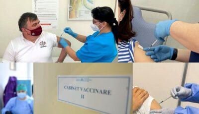 Angajații Ambasadei Republicii Moldova s-au vaccinat în România cu prima doză de ser Pfizer