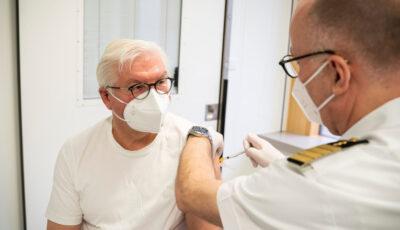 Președintele Germaniei s-a vaccinat cu serul AstraZeneca