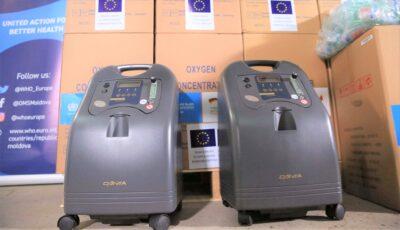 300 de concentratoare de oxigen, oferite cu sprijinul financiar al Germaniei, vor ajunge în spitalele din Moldova