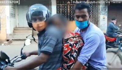 Doi frați au transportat cadavrul mamei lor pe o motocicletă, către crematoriu, în India