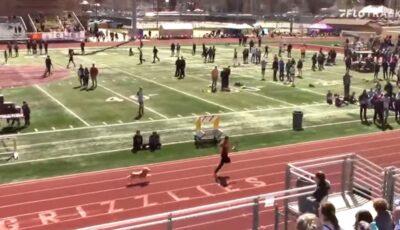Un câine a intrat pe pista de atletism, printre sportivi, și a câștigat cursa în SUA. Spectatorii, în extaz!