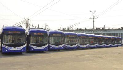 Zece troleibuze noi au fost lansate astăzi pe rutele municipale
