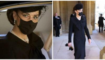 Ducesa de Cambridge, la funeraliile prințului Philip