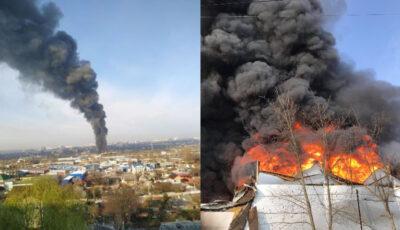 Incendiu catastrofal în Capitală