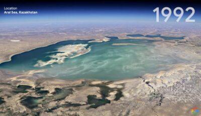Google Earth arată cum s-a schimbat planeta Pământ în ultimii 37 de ani