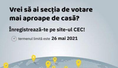 Vrei pe 11 iulie să votezi, fiind departe de casă? Anunță CEC-ul unde vrei să votezi!