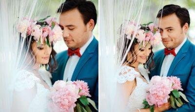Opt ani de căsnicie: Lilu a îmbrăcat din nou rochia de mireasă. Fetițele cuplului au avut cele mai mari emoții!
