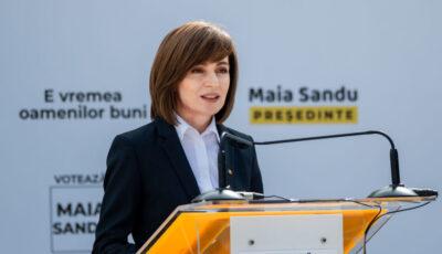Președinta Maia Sandu, felicitată inclusiv de către Igor Dodon