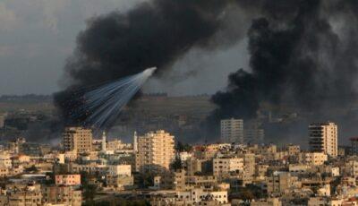 Imagini halucinante din Fâșia Gaza. Copiii se joacă în stradă în timp ce bombele cad peste oraș