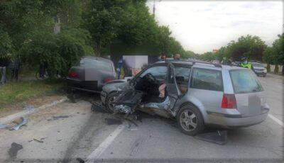 Patru răniți, din care trei minori, într-un accident la Ialoveni