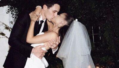 Ariana Grande, primele imagini în rochie de mireasă. Artista s-a căsătorit în mare secret