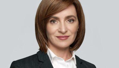 Președintele Republicii Moldova, Maia Sandu, își sărbătorește astăzi ziua de naștere