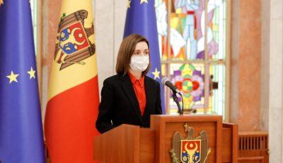 Președinta Maia Sandu își va administra, mâine, prima doză de vaccin AstraZeneca