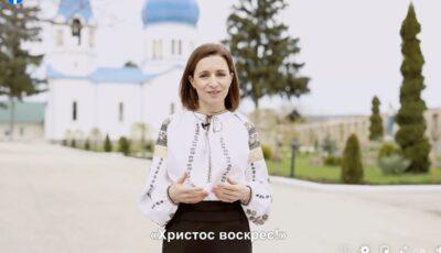 Mesajul Președintei Republicii Moldova, cu ocazia Sărbătorilor Pascale!