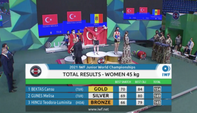 Halterofila moldoveancă Teodora-Luminița Hîncu a cucerit medalia de bronz la Campionatul Mondial de juniori