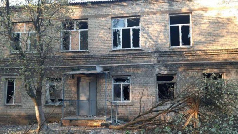 Separatiștii din regiunea Donetsk au aruncat o grenadă într-un spital Covid cu 45 de pacienți
