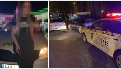 O șoferiță băută, prinsă de oamenii legii în timp ce conducea cu luminile stinse. Aceasta a avariat două mașini de poliție