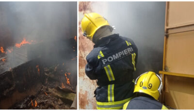 Piața Centrală din Comrat a luat foc în ziua de Paște