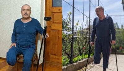 Un bărbat, care a rămas fără picior din cauza Covid-19, roagă să fie ajutat pentru a face rost de o proteză mai confortabilă și eficientă