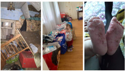 Fetița de 1 anișor s-a vindecat de rănile de pe picioare și locuiește într-o casă nouă cu mama sa, care așteaptă al doilea copil