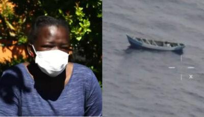 O tânără de Mauritania, găsită după 22 de zile plutind pe mare. Ea se afla pe o barcă cu migranți, din care 56 au murit
