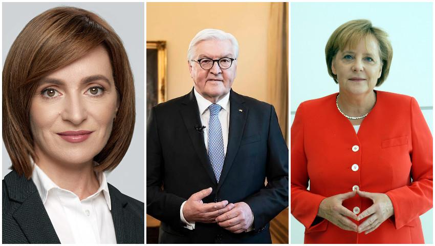 Foto: Maia Sandu va efectua în această săptămână o vizită oficială în Germania, la invitația președintelui țării Frank-Walter Steinmeier