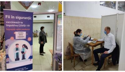 Un centru de vaccinare gratuit s-a deschis la Piața Centrală. Toți doritorii pot beneficia de acest serviciu