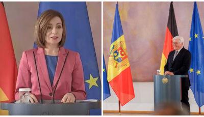 Maia Sandu, declarație după întrevederea oficială cu Frank-Walter Steinmeier, Președintele Republicii Federale Germania
