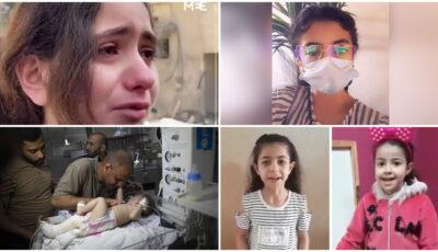 """Video. Copiii din Gaza, răniți și uciși în bombardamente: ,,Nu sunt decât un copil, nu mai pot"""""""